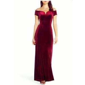 Vince Camuto burgundy velvet dress